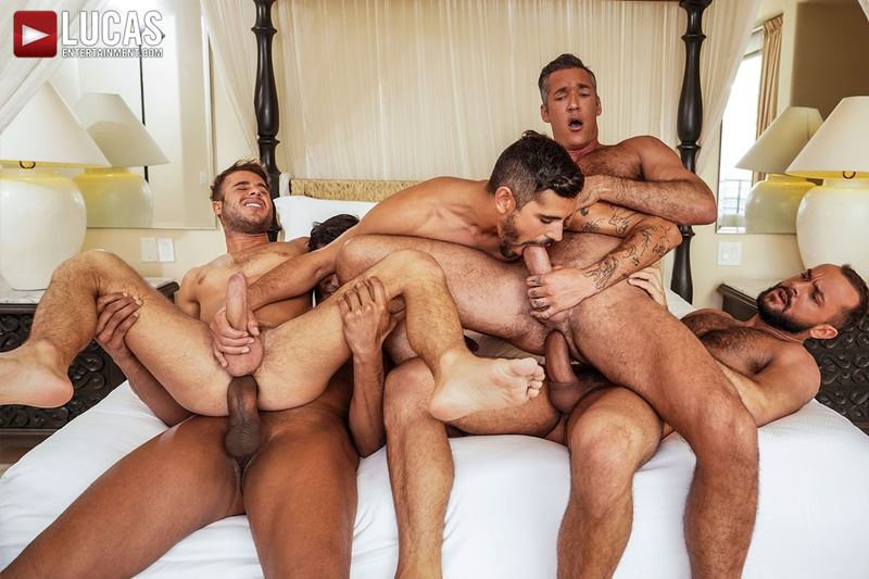 Hottie muscle studs Allen King Marco Antonio Silver Steele Sir Peter Valentin Amour bareback anal fucking Lucas Entertainment 001 gay porn pics - Hottie muscle studs Allen King, Marco Antonio, Silver Steele, Sir Peter and Valentin Amour bareback anal fucking at Lucas Entertainment