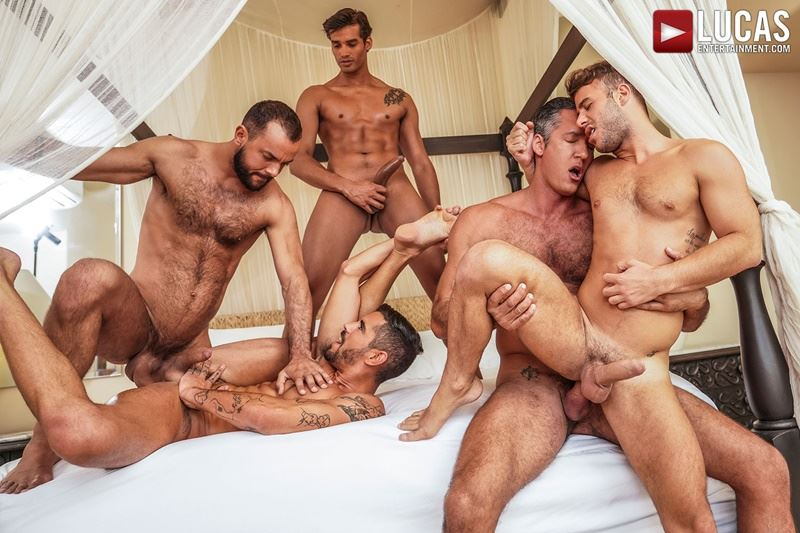 Hottie muscle studs Allen King Marco Antonio Silver Steele Sir Peter Valentin Amour bareback anal fucking Lucas Entertainment 002 gay porn pics - Hottie muscle studs Allen King, Marco Antonio, Silver Steele, Sir Peter and Valentin Amour bareback anal fucking at Lucas Entertainment