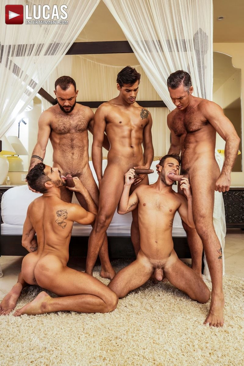 Hottie muscle studs Allen King Marco Antonio Silver Steele Sir Peter Valentin Amour bareback anal fucking Lucas Entertainment 008 gay porn pics - Hottie muscle studs Allen King, Marco Antonio, Silver Steele, Sir Peter and Valentin Amour bareback anal fucking at Lucas Entertainment