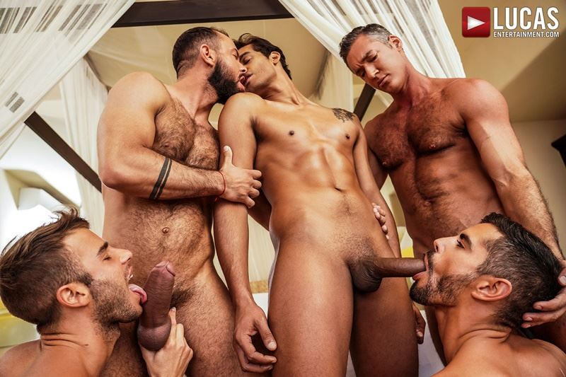 Hottie muscle studs Allen King Marco Antonio Silver Steele Sir Peter Valentin Amour bareback anal fucking Lucas Entertainment 010 gay porn pics - Hottie muscle studs Allen King, Marco Antonio, Silver Steele, Sir Peter and Valentin Amour bareback anal fucking at Lucas Entertainment