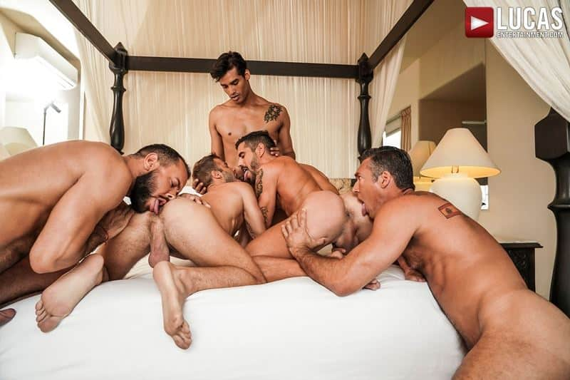 Hottie muscle studs Allen King Marco Antonio Silver Steele Sir Peter Valentin Amour bareback anal fucking Lucas Entertainment 011 gay porn pics - Hottie muscle studs Allen King, Marco Antonio, Silver Steele, Sir Peter and Valentin Amour bareback anal fucking at Lucas Entertainment