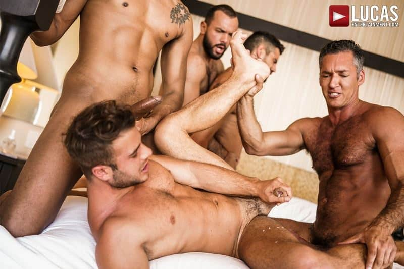 Hottie muscle studs Allen King Marco Antonio Silver Steele Sir Peter Valentin Amour bareback anal fucking Lucas Entertainment 019 gay porn pics - Hottie muscle studs Allen King, Marco Antonio, Silver Steele, Sir Peter and Valentin Amour bareback anal fucking at Lucas Entertainment