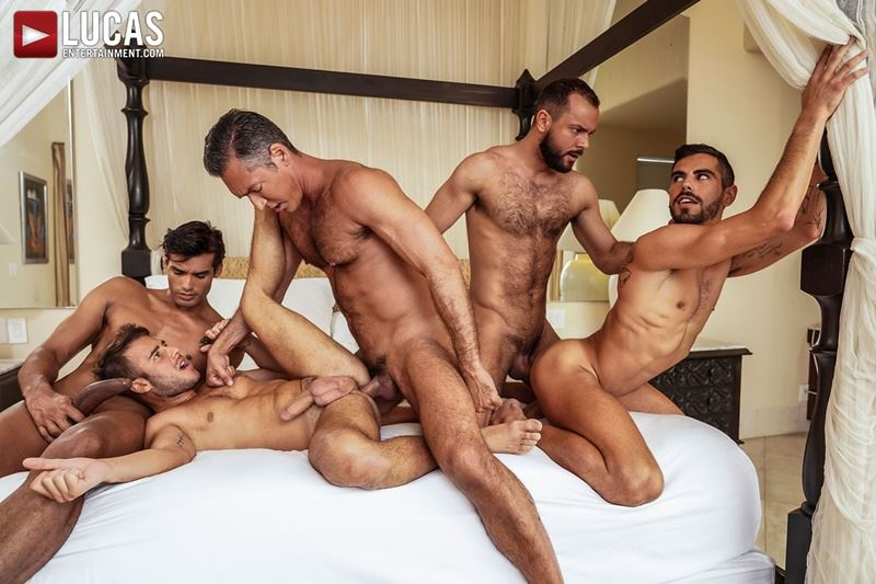 Hottie muscle studs Allen King Marco Antonio Silver Steele Sir Peter Valentin Amour bareback anal fucking Lucas Entertainment 021 gay porn pics - Hottie muscle studs Allen King, Marco Antonio, Silver Steele, Sir Peter and Valentin Amour bareback anal fucking at Lucas Entertainment
