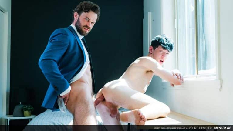 Men Play sexy muscle hunk James Fox huge bare dick raw fucking young stud Edward Terrant 0 gay porn image 768x432 - Men at Play sexy muscle hunk James Fox's huge bare dick raw fucking young stud Edward Terrant