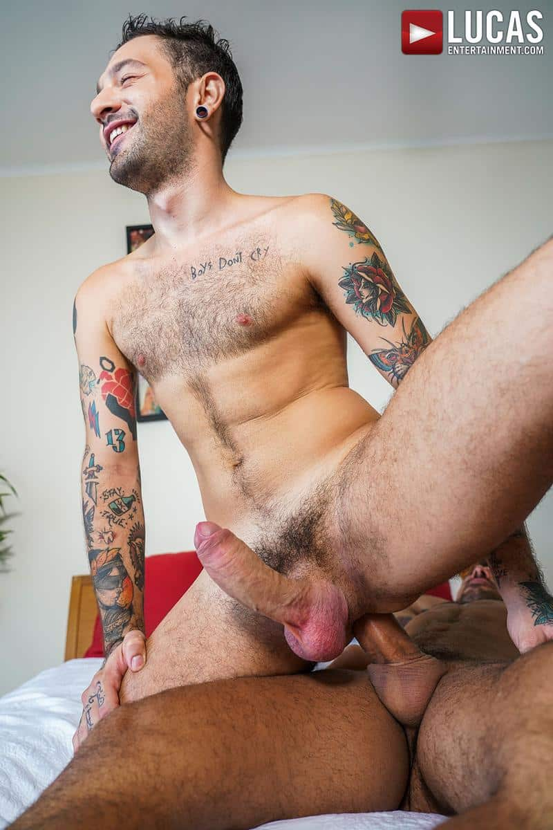 Horny muscled hunk Rudy Gram huge uncut dick raw fuck younger muscle boy Igor Lucios Lucas Entertainment 28 gay porn image - Horny muscled hunk Rudy Gram's huge uncut dick raw fuck younger muscle boy Igor Lucios at Lucas Entertainment