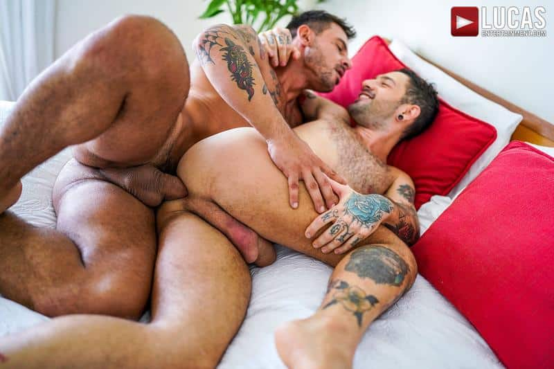Horny muscled hunk Rudy Gram huge uncut dick raw fuck younger muscle boy Igor Lucios Lucas Entertainment 29 gay porn image - Horny muscled hunk Rudy Gram's huge uncut dick raw fuck younger muscle boy Igor Lucios at Lucas Entertainment
