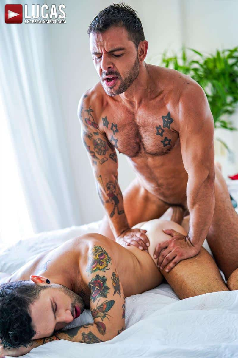 Horny muscled hunk Rudy Gram huge uncut dick raw fuck younger muscle boy Igor Lucios Lucas Entertainment 41 gay porn image - Horny muscled hunk Rudy Gram's huge uncut dick raw fuck younger muscle boy Igor Lucios at Lucas Entertainment
