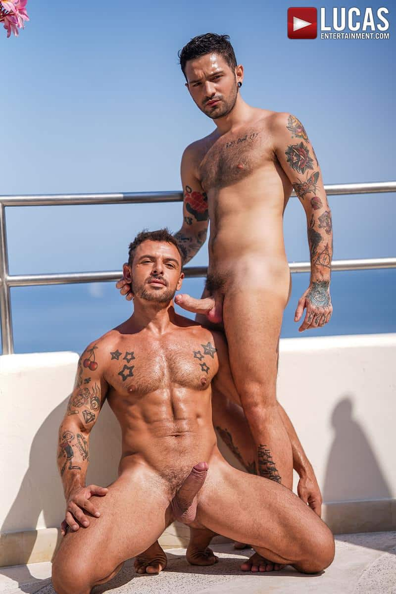 Horny muscled hunk Rudy Gram huge uncut dick raw fuck younger muscle boy Igor Lucios Lucas Entertainment 8 gay porn image - Horny muscled hunk Rudy Gram's huge uncut dick raw fuck younger muscle boy Igor Lucios at Lucas Entertainment