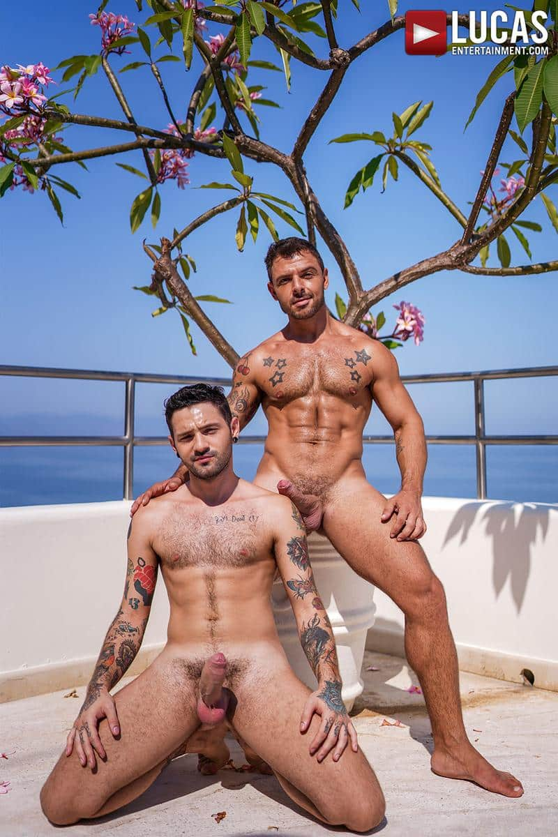 Horny muscled hunk Rudy Gram huge uncut dick raw fuck younger muscle boy Igor Lucios Lucas Entertainment 9 gay porn image - Horny muscled hunk Rudy Gram's huge uncut dick raw fuck younger muscle boy Igor Lucios at Lucas Entertainment