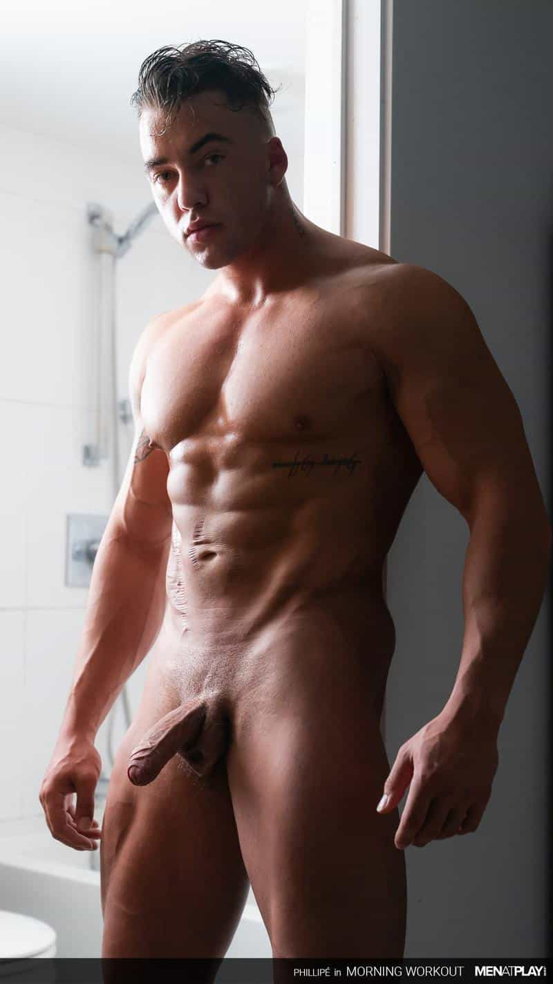 Men Play hottie massive muscle hunk Phillipe Massa removes suit stroking big thick cock 8 gay porn image - Men at Play hottie massive muscle hunk Phillipe Massa removes his suit stroking his big thick cock