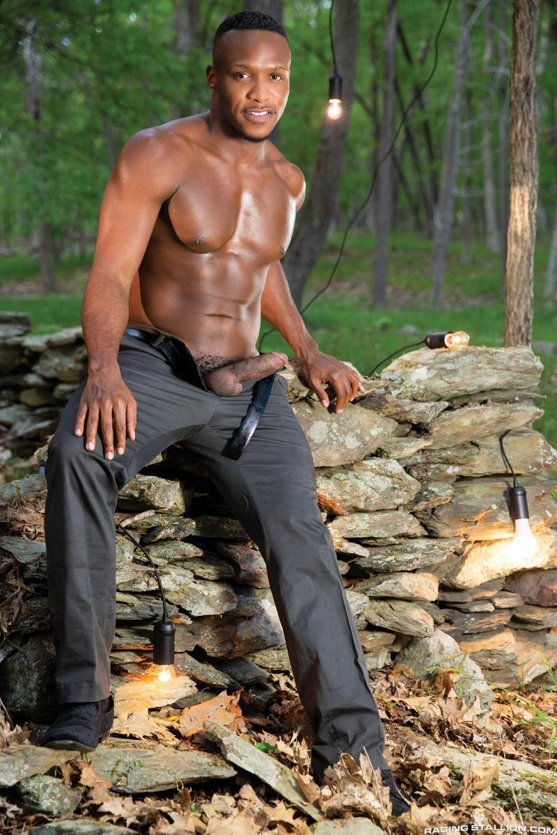 Raging Stallion sexy hairy chested stud Grant Ryan asshole bare fucked black hunk Andre Donovan 3 gay porn image - Raging Stallion sexy hairy chested stud Grant Ryan's asshole bare fucked by black hunk Andre Donovan