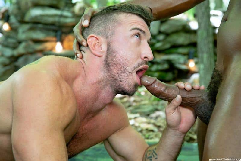 Raging Stallion sexy hairy chested stud Grant Ryan asshole bare fucked black hunk Andre Donovan 7 gay porn image - Raging Stallion sexy hairy chested stud Grant Ryan's asshole bare fucked by black hunk Andre Donovan