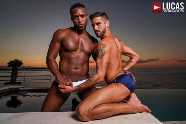 Sexy muscle bottom Valentin Amour raw ass bare fucked black hottie Andre Donovan Lucas Entertainment 0 gay porn image 768x512 - Sexy muscle bottom Valentin Amour's raw ass bare fucked by black hottie Andre Donovan at Lucas Entertainment