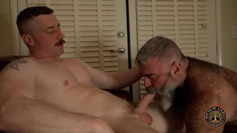 House of Angell horny big bear daddy Will Angell sucks step son Jack Reed huge thick uncut dick 0 gay porn image 768x432 - House of Angell horny big bear daddy Will Angell's sucks step-son Jack Reed's huge thick uncut dick