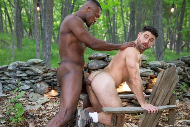 Raging Stallion sexy hairy stud Beau Butler hot ass fucked black muscle man Andre Donovan 11 gay porn image - Raging Stallion sexy hairy stud Beau Butler's hot ass fucked by black muscle man Andre Donovan