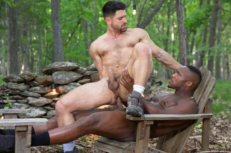Raging Stallion sexy hairy stud Beau Butler hot ass fucked black muscle man Andre Donovan 13 gay porn image - Raging Stallion sexy hairy stud Beau Butler's hot ass fucked by black muscle man Andre Donovan
