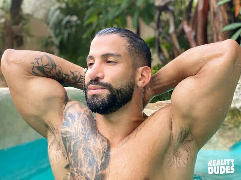 Reality Dudes sexy Latin dude Octavio bare asshole raw fucked young bearded hunk Rob Campos 3 gay porn image - Reality Dudes sexy Latin dude Octavio's bare asshole raw fucked by young bearded hunk Rob Campos