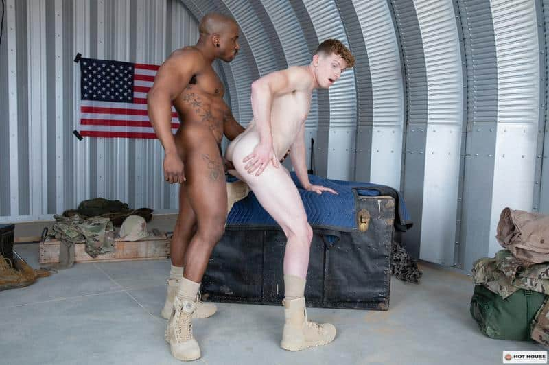 Sexy military muscle dude Max Konnor huge black dick fucking young private Max Lorde Hot House 12 gay porn image - Sexy military muscle dude Max Konnor's huge black dick fucking young private Max Lorde at Hot House