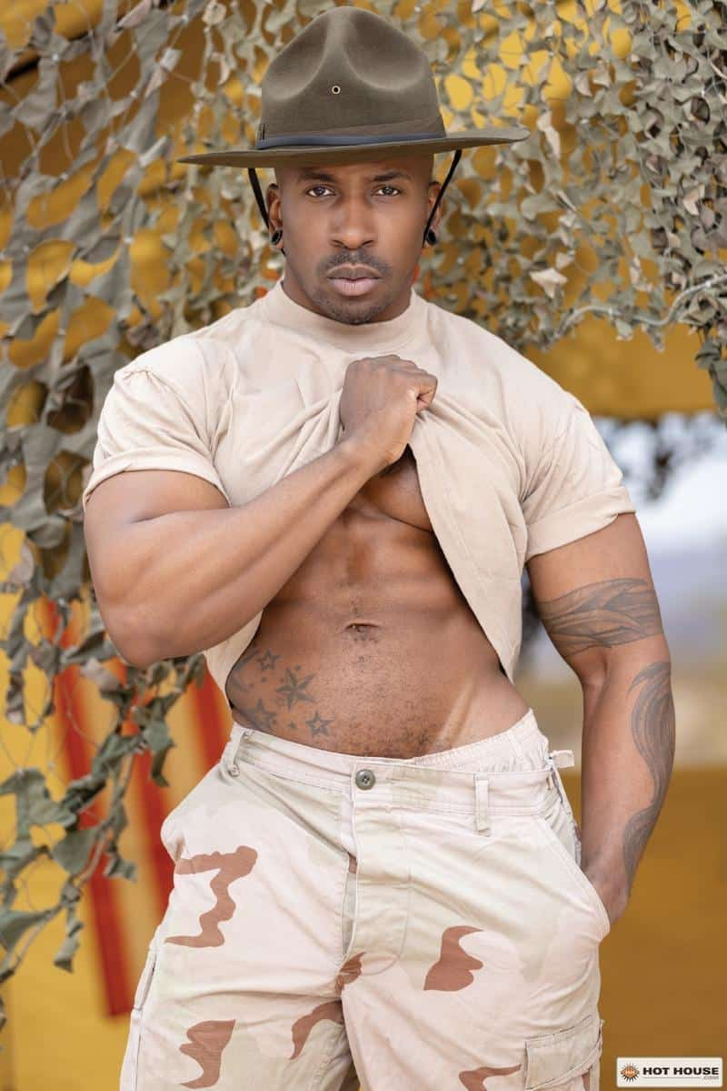 Sexy military muscle dude Max Konnor huge black dick fucking young private Max Lorde Hot House 2 gay porn image - Sexy military muscle dude Max Konnor's huge black dick fucking young private Max Lorde at Hot House