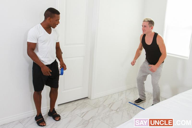 Bottom Games interracial anal Adrian Hart hot black ass raw fucked white stud Cade Cooper 2 gay porn image - Bottom Games interracial anal Adrian Hart's hot black ass raw fucked by white stud Cade Cooper