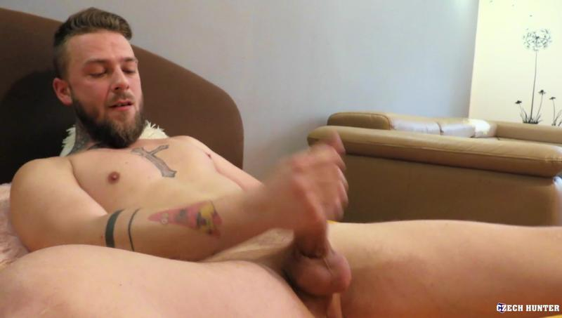 Horny young straight hunk bottoms my huge uncut foreskined cock Czech Hunter 599 31 gay porn image - Horny young straight hunk bottoms for my huge uncut foreskined cock at Czech Hunter 599
