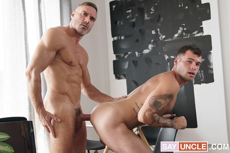 Muscle daddy Manuel Skye huge raw dick fucking sexy step son Tan Blitz smooth asshole Dad Creep 4 gay porn image - Muscle daddy Manuel Skye's huge raw dick fucking sexy step-son Tan Blitz's smooth asshole at Dad Creep