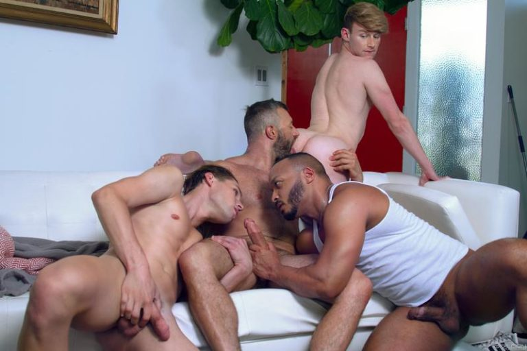 Raging Stallion hot gay sex foursome Dillon Diaz Cole Connor Eric Charming Shae Reynolds 0 gay porn image 768x512 - Raging Stallion hot gay sex foursome Dillon Diaz, Cole Connor, Eric Charming and Shae Reynolds